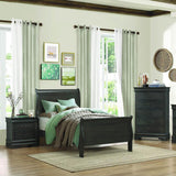 Homelegance Mayville 3 Piece Sleigh Bedroom Set in Stained Grey