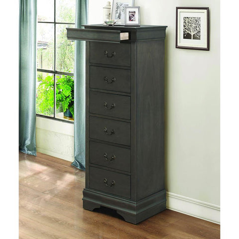 Homelegance Mayville Lingerie Chest w/Hidden Drawer in Stained Grey