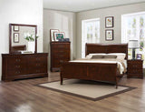 Homelegance Mayville Sleigh Bed in Brown Cherry