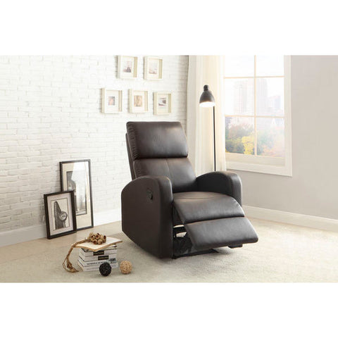 Homelegance Mendon Recliner Chair In Dark Brown Bi-Cast Vinyl