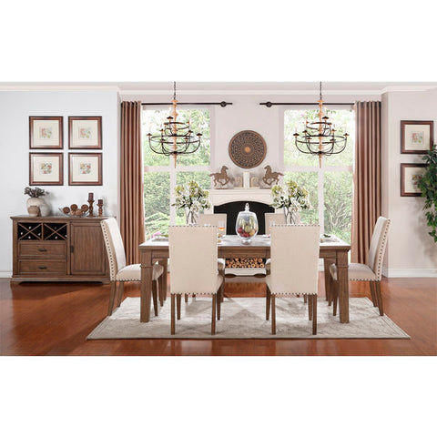 Homelegance Mill Valley 5 Piece Dining Set In Weathered Wash