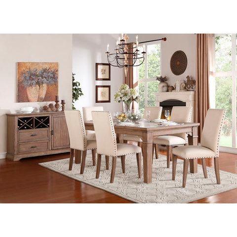 "Homelegance Mill Valley Dining Table With 18"" Leaf In Weathered Wash"