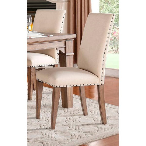 Homelegance Mill Valley Side Chair, Neutral Fabric In Neutral Tone Padded Fabric