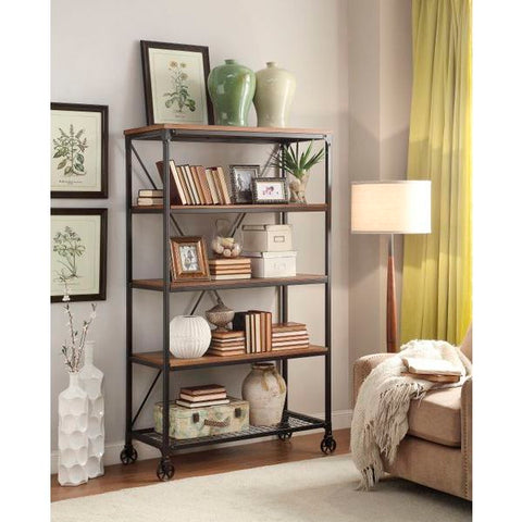 Homelegance Millwood Large Bookshelf In Distressed Ash
