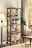 Homelegance Millwood Medium Bookshelf 3A-Pack In Distressed Ash