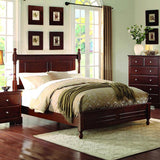 Homelegance Morelle Low Poster Bed in Cherry