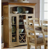 Homelegance Nash 48 Inch Curio w/ Wine Bottle Storage