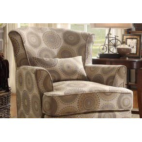 Homelegance Nicolo Upholstered Accent Chair w/ 1 Kidney Pillow