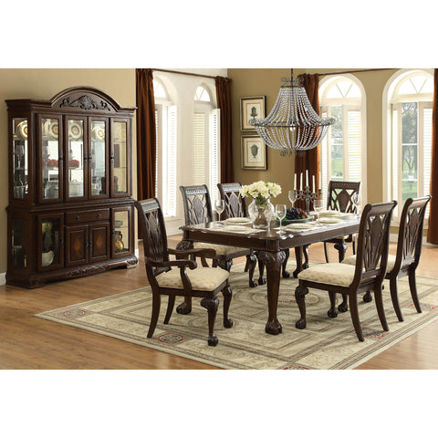 Homelegance Norwich 8 Piece Dining Room Set in Warm Cherry