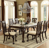 Homelegance Norwich Dining Table in Warm Cherry