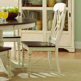 Homelegance Ohana Side Chair in Antique White & Warm Cherry