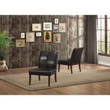 Homelegance Oriana Upholstered Accent Chair in Dark Brown Bi-Cast Vinyl