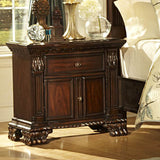 Homelegance Orleans 1 Drawer 2 Door Nightstand in Rich Cherry