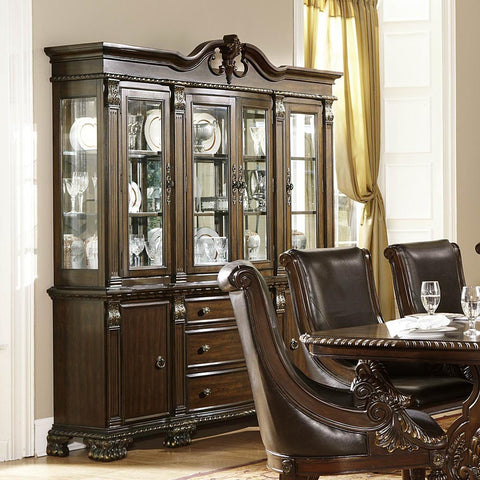 Homelegance Orleans Buffet & Hutch in Rich Dark Cherry