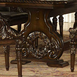 Homelegance Orleans Double Pedestal Dining Table in Rich Dark Cherry