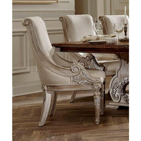 Homelegance Orleans II Arm Chair, Linen In White Wash