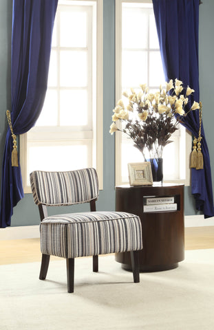 Homelegance Orson Accent Chair w/ Blue Tonal Stripe