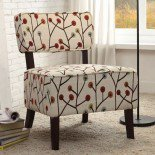 Homelegance Orson Accent Chair w/ Multi-Color Poppies