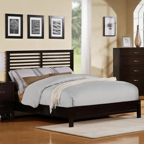Homelegance Paula II Platform Bed in Dark Cherry