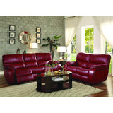 Homelegance Pecos 2 Piece Power Double Reclining Living Room Set in Red Leather Gel Match