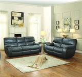 Homelegance Pecos Double Reclining Loveseat in Grey Leather Gel Match