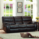 Homelegance Pecos Double Reclining Sofa in Brown Leather Gel Match
