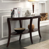 Homelegance Pierre Sofa Table w/ Glass Insert in Rich Espresso
