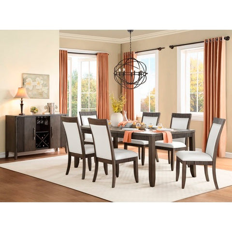 Homelegance Piqua 7Pc Dining Set In Grey