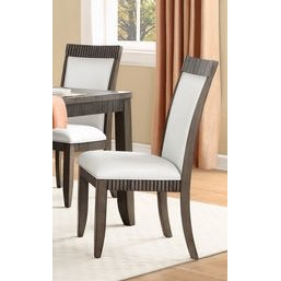 Homelegance Piqua Side Chair In Ivory Textured Bi-Cast Vinyl