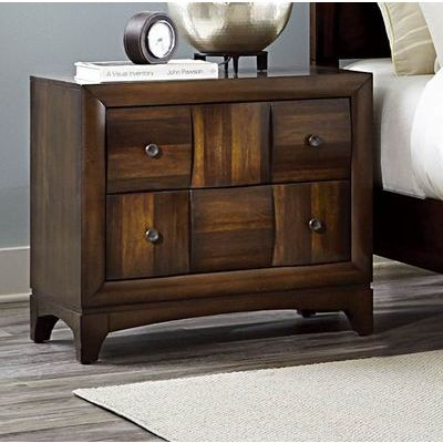 Homelegance Porter Night Stand, Warm Walnut