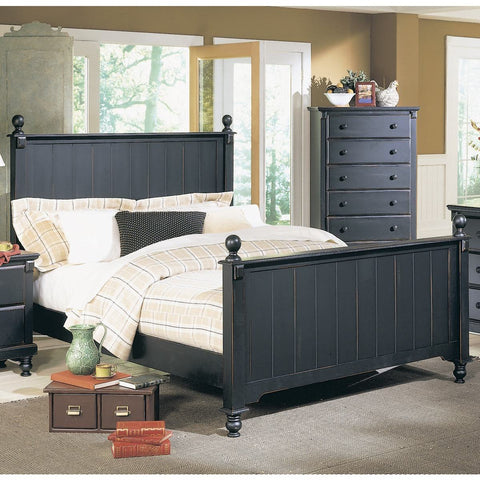 Homelegance Pottery Panel Bed in Black