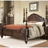 Homelegance Prenzo Poster Bed in Brown