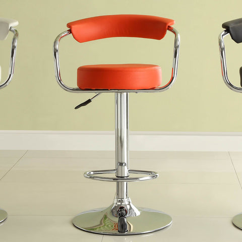 Homelegance Ride Red Airlift Swivel Stool w/ Chrome Back