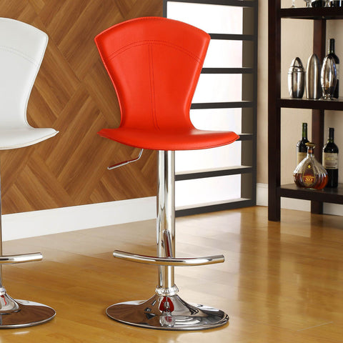 Homelegance Ride Red Airlift Swivel Stool w/ Tall Back