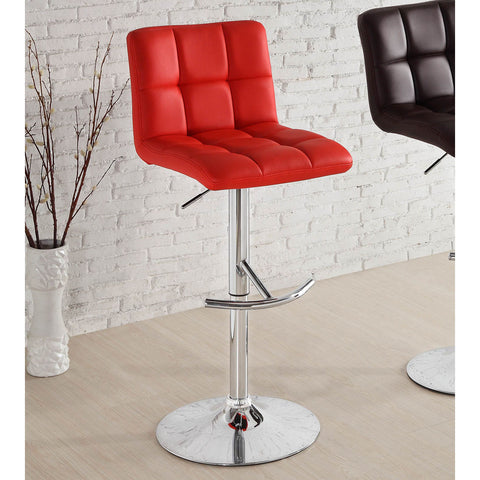 Homelegance Ride Red Bonded Leather Airlift Swivel Stool