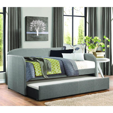 Homelegance Roland Daybed w/Trundle in Grey