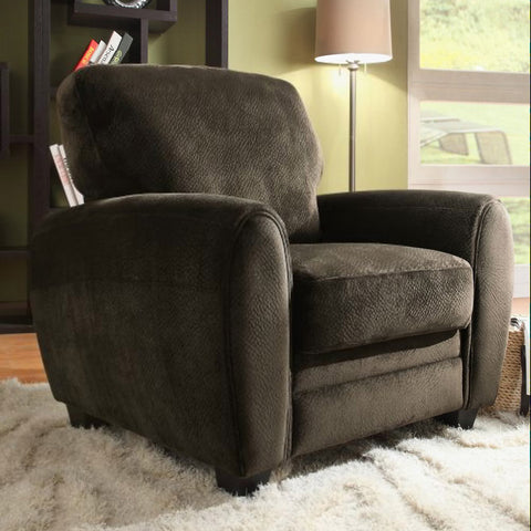 Homelegance Rubin Arm Chair in Chocolate Microfiber