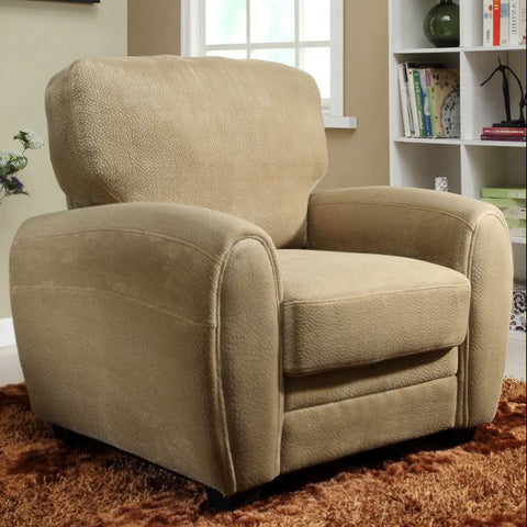 Homelegance Rubin Arm Chair in Light Brown Microfiber