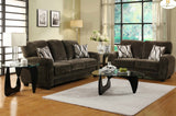 Homelegance Rubin 2 Piece Living Room Set in Chocolate Microfiber