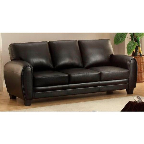 Homelegance Rubin Sofa In Black Bonded Leather Match