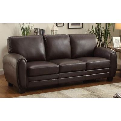 Homelegance Rubin Sofa In Dark Brown Bonded Leather Match