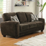 Homelegance Rubin Sofa in Chocolate Microfiber