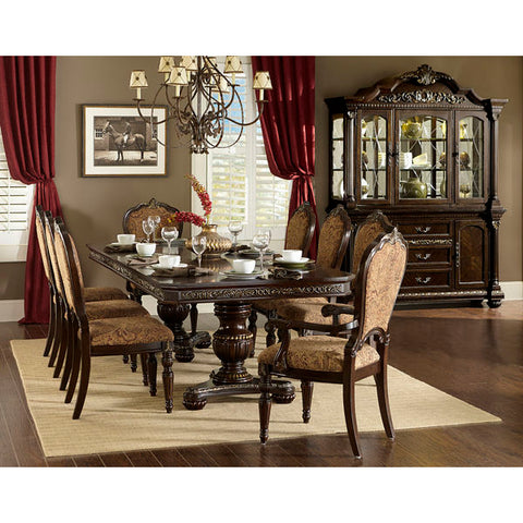 Homelegance Russian Hill Dining Table In Cherry Finish