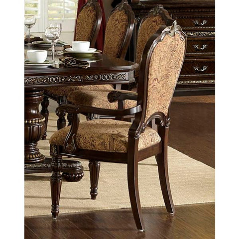 Homelegance Russian Hill Fabric Arm Chair In Cherry Finish