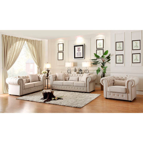 Homelegance Savonburg Love Seat & Sofa In Polyester