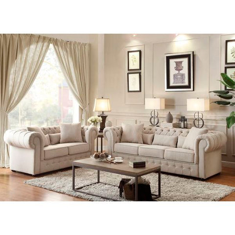 Homelegance Savonburg Sofa, 5 Pillows In Polyester