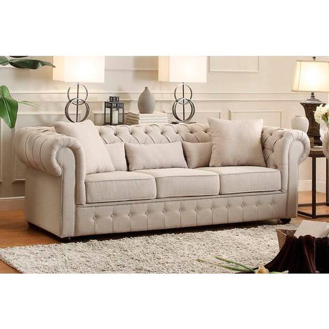 Homelegance Savonburg Three Piece Sofa Set In Polyester