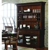 Homelegance Schleiger Buffet & Hutch in Burnished Brown
