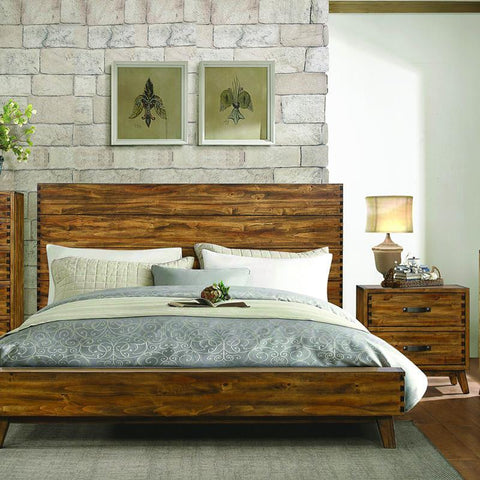 Homelegance Sorrel 2 Piece Platform Bedroom Set in Heavily Burnished
