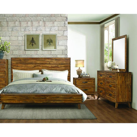 Homelegance Sorrel 3 Piece Platform Bedroom Set in Heavily Burnished